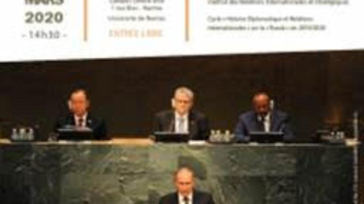 Conférence : La politique étrangère russe : défis et enjeux